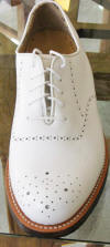 Classic Gold Toe Golf shoes white Brogue
